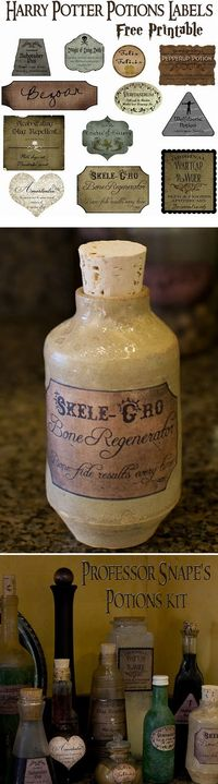 Harry Potter potions labels - free printables --Nice :)