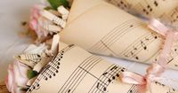 Sheet music wedding favor