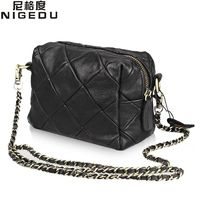 Sheepskin patchwork Genuine leather chain Shoulder bag for Women R266.40