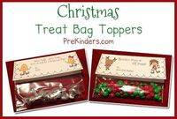 Here are some Christmas Treat Bag Toppers for your students! I have included 3 different bag toppers and each one has two versions: one that says �€œFrom Your Tea