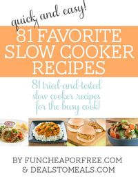 Shandra and I compiled our 81 favorite slow cooker recipes and put them all in one fabulous Ebook! This baby is chock full of cooking and meal planning tips, an