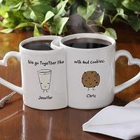We Go Together Like... Milk n Cookies...PNut Butter & Jelly... Mac & Cheese © Personalized Mug Set $24.95 ~personalizationmall
