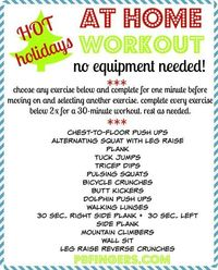 HOT Holidays At Home Workout