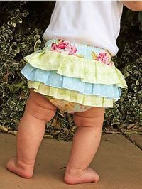 How to Sew Fancy Ruffled Diaper Covers - this looks like something you'd like