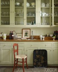 A Glass Cabinet Pantry