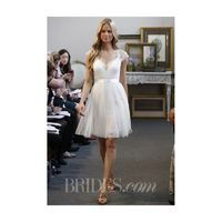 Watters - Fall 2013 - Spruce Knee-Length Wedding Dress with Lace Cap Sleeves - Stunning Cheap Wedding Dresses|Prom Dresses On sale|Various Bridal Dresses