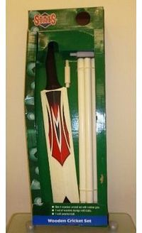 STATS 2 X Size 4 Wooden Cricket Set With Cricket Bat, Ball And Stumps with Bails (HL3) 2 X Size 4 Wooden Cricket Set With Cricket Bat, Ball And Stumps with Bails (HL3) (Barcode EAN = 0627604188417). http://www.comparestoreprices.co...