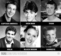 Young Avengers....Wow. Look at Mark Ruffalo. And Jeremy Renner....