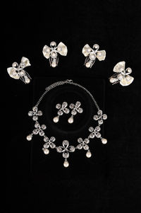 Chic Felicity Shaped Alloy with Pearl Wedding Bridal Jewelry Set Including Headwear,Necklace and Earrings -HC