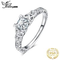 $8.59 Aliexpress - JPalace Celtic Knot Princess CZ Engagement Ring 925 Sterling Silver Rings for Women Anniversary Wedding Rings Silver 925 Jewelry. Buy if from Aliexpress.com