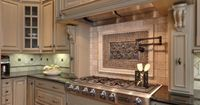traditional kitchen by Teri Turan cabinets, Benjamin Moore OC-32 Tapestry Beige, the perfect color I've been looking for.