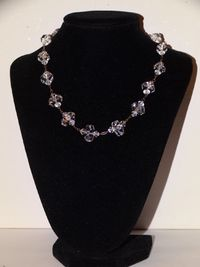 Vge Sterling Victorian Faceted Rock Crystal Art Deco Made In Germany Gorgeous Necklace. $128.75