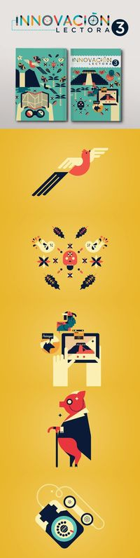 Innovación Lectora Secundaria 3 by Cherry Bomb Design Studio, via Behance