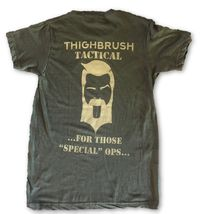 """THIGHBRUSH® TACTICAL - ARMED FORCES COLLECTION - """"For Those """"Special"""" Ops"""" - Men's T-Shirt - Heather Military Green and Tan"""