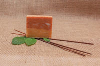 2 Bars Of Patchouli Plus Cedar Soap Saver Gift Bag $9.95