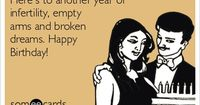 Why some infertiles don't celebrate their birthdays anymore. I havent in 7 years and cry when each one comes around