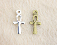 Pack of 20 Mini Ankh Charms. Different Colours. Egyptian Cross Pendants. Key of Life Crux Ansata. £5.39