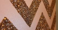 glitter chevron: frame it to add sparkle to a room!