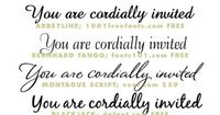 Wedding invitation fonts and typefaces