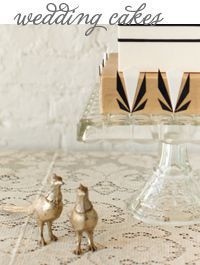 Black, Gold, and White Art Deco Wedding Cake / Great Gatsby Wedding / Jen Huang Photography / Lael Cakes / via Style Unveiled