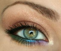 Shimmery hints of color on eyes
