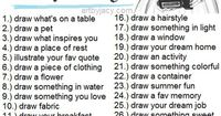 Art Journal Ideas, or as some kids finish early or sub plans students pick one to draw and shade that fills the paper.