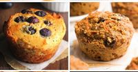"""A collection of healthy, easy & delicious muffin recipes�€""""all made without butter, refined flour or sugar for great guilt-free breakfasts & snacks! As an eight-y"""