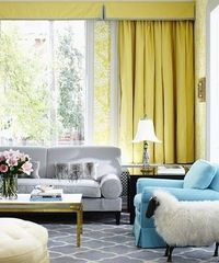 Yellow-blue-chic-modern-living-room-design-damask-wallpaper-graphic-rug-copy2 large