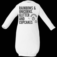 Rainbows & Unicorns. Glitter And Cupcakes. Rabbit Skins Infant Layette