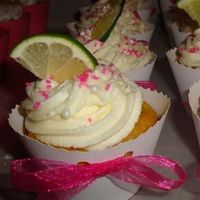 Top Shelf Margarita Cupcakes: A Lemon cake with a shot of Patron and Grand Mariner. Then topped off with a delicious Whipped Cream Cheese Frosting and sprinkled with some colored salt and a lime Wedge. The perfect Margarita.