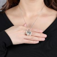 Butterfly and Tianyu Pendant - Women's Fashion Necklace - Mother's Day gift-925 Silver Necklace Pendant Message Seller