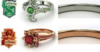 Harry Potter �€˜The Four Houses' engagement rings! My future husband will know to get me one.