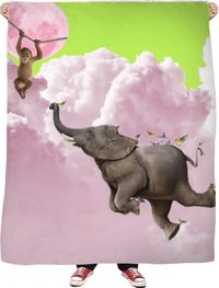 Learning To Fly Fleece Blanket $65.00