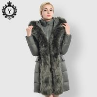 JFCA Fashion Hot Women Jacket Winter Ukraine Female Cotton Padded Coats Casual Long Fur Collar Parka 2017 New Collection Coat £65.00