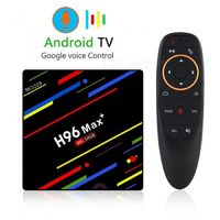 H96 MAX+ Voice Version Set-top Box, Android 8.1 RK3328 Colorful TV Box with 4GB RAM, 64GB ROM