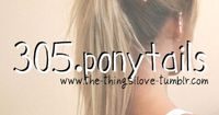 Ponytails.postnow, read later. Perfect for the girl that always wears her hair up...