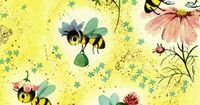 Spring Bees Vintage Wrapping Paper by texassurlymonkey, via Flickr