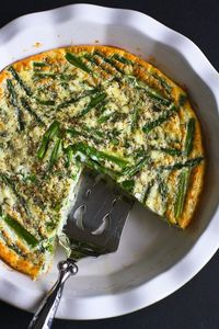 Celebrate the arrival of spring and asparagus season with this easy crustless quiche recipe. Full of flavor and nutrients, but short on calories.