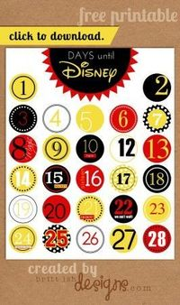photograph about Disney Countdown Calendar Printable named Articles identical in the direction of: Disney Earth Family vacation Chalkboard Countdown