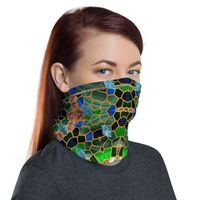 Mask Neck Gaiter Unisex Cute Mask For Women, 12 in 1 Multi-functional Face Mask Cover Bandana Headband, Pink, Red, Lime SKU:TWS-4003-Teal 01 $19.85