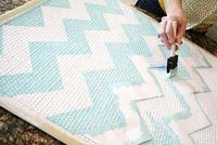 How to paint a chevron rug. Easy painting tutorial.