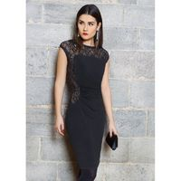 Jolibel - 216002 Lace Cap Sleeves Ruched Dress - Designer Party Dress & Formal Gown