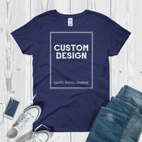 Personalized short sleeve t-shirt Women's Shirt with custom image - Customize With your photo - Logo - Graphic custom text quote $19.99