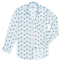 Create a stylish look with this Oxford Men blue flowers on white casual shirt. Woven in Egyptian cotton. this casual shirt has a fine finish.  �€� 100% Cotton  �€� Classic collar  �€� Full Sleeve  �€� Oxford Men  �...