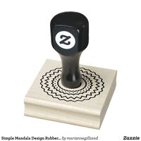 Simple Mandala Design Rubber Stamp