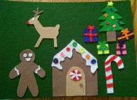 Christmas themed felt board play pieces by princesssilva on Etsy