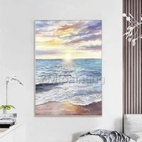 Abstract painting oil paintings on canvas original art sea wave seascape painting extra large wall pictures Home Decor cuadros abstractos $109.00