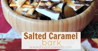 Salted Caramel Bark: delicious copycat recipe from Costco...1/4 cup butter 1/4 cup brown sugar 1 1/2 Tbsp milk 1/4 tsp vanilla extract 1/2 cup powdered sugar 1/2 tsp kosher salt 16 oz vanilla candy coating 3/4 cup milk chocolate morsels 1 1/2 cup pretzels...