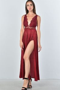20% discount with BESTDEAL at checkout! Ladies fashion boho lace double split maxi dress $26.00