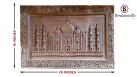 Handmade Wooden Wall Hanging, Wooden Taj Mahal Wall Art, Wooden Artwork for Wall, Carved Wood Wall Art, Wood Wall Decor, Wood Art Home Decor $635.00